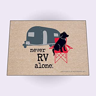 product image for HIGH COTTON Never RV Alone Doormat Welcome Doormat
