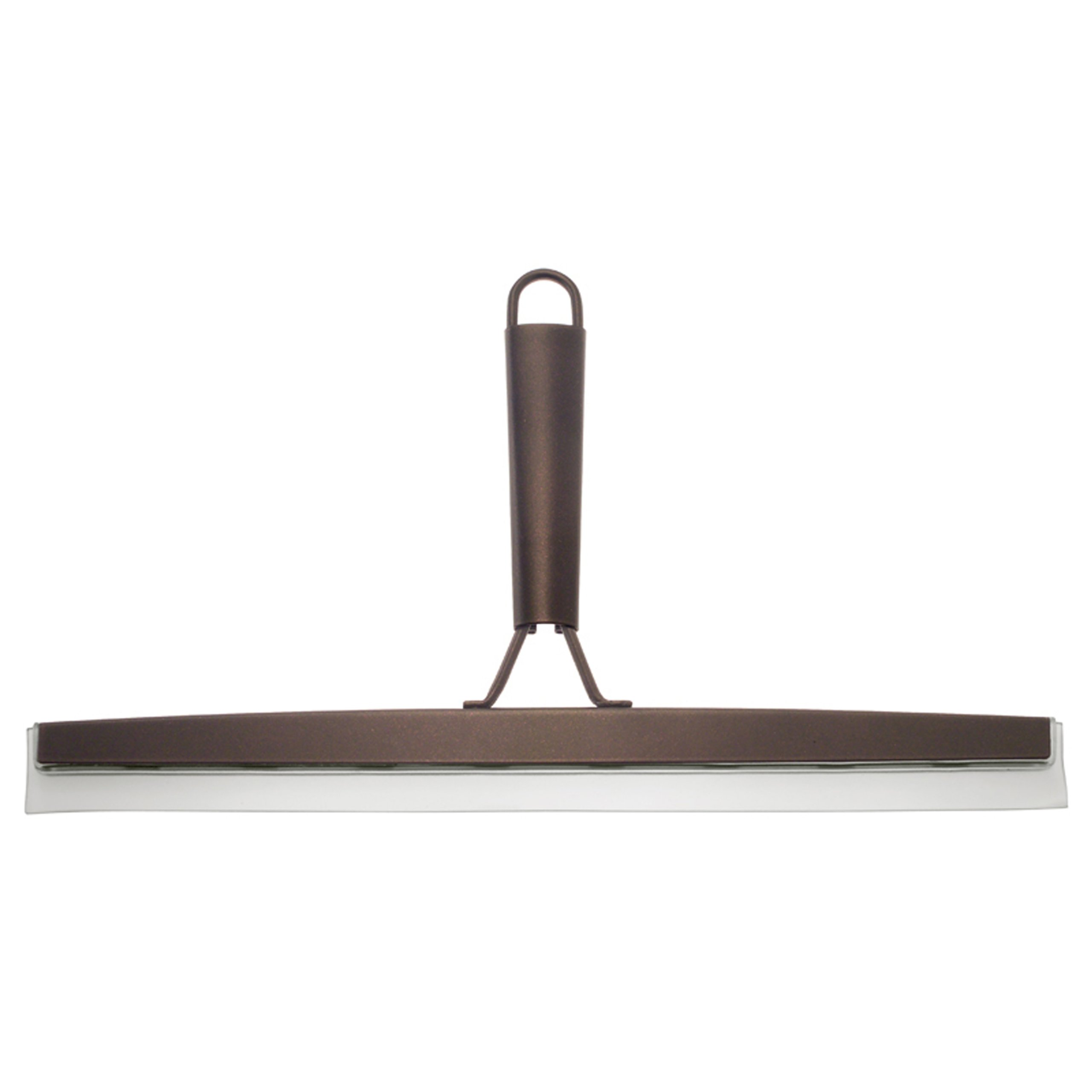 "InterDesign Forma Bathroom Shower Door, Window and Mirror Squeegee with Suction Storage Hook - 12"", Bronze"