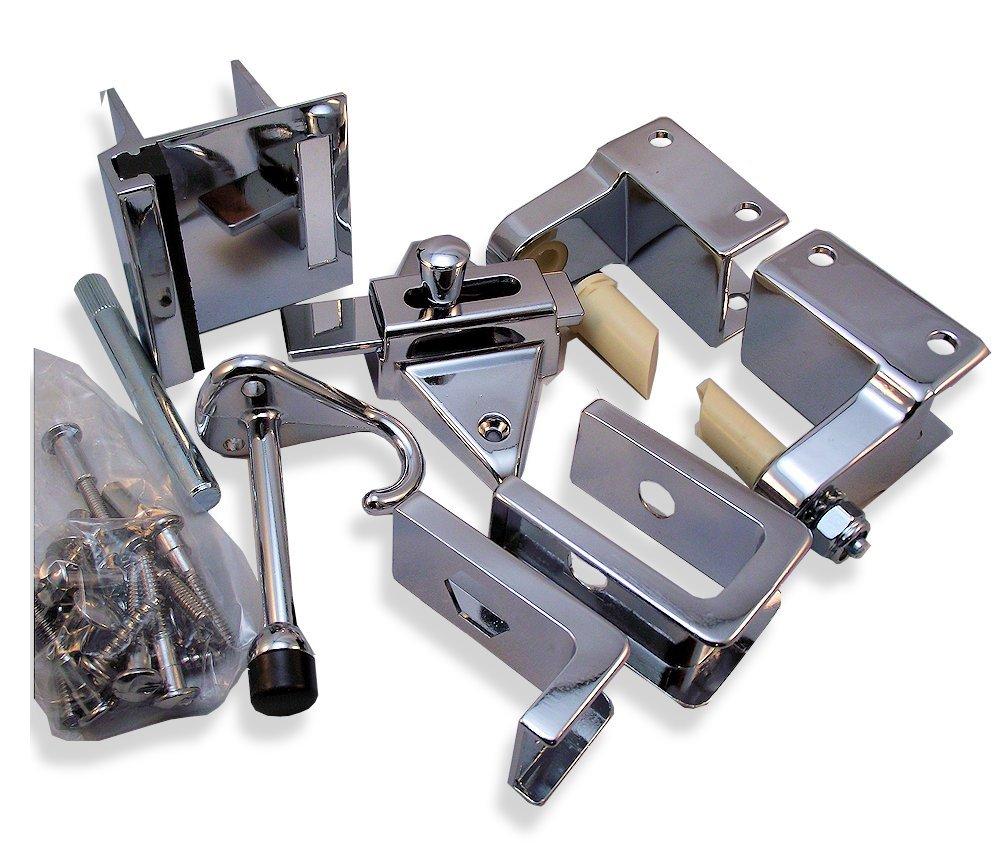 Inswing Door Hardware Repair Pak - for 7/8'' Restroom Partition Door & 1-1/4'' Pilaster
