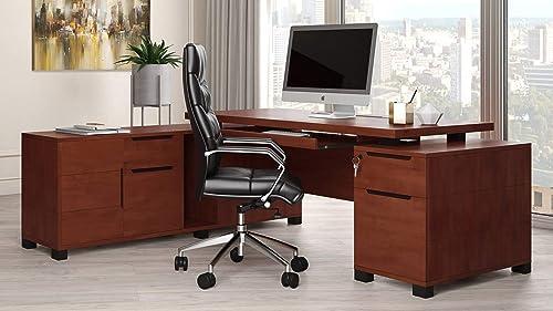 Light Wood Finish Ford Executive Modern Desk - a good cheap modern office desk