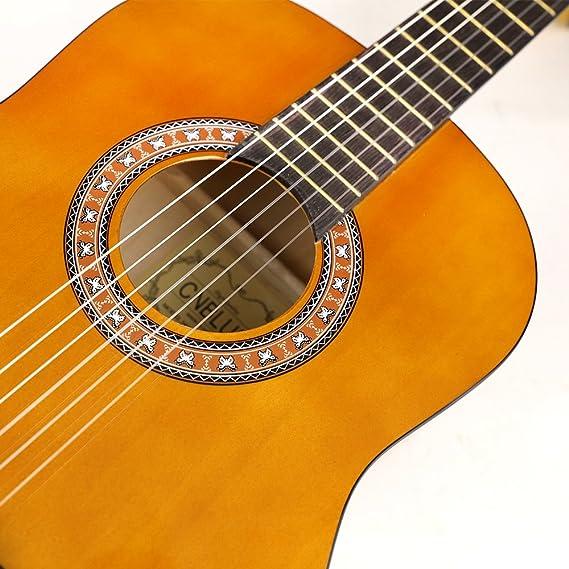 guitarra clásica acústica guitarra 3/4 tamaño 36 pulgada: Amazon ...