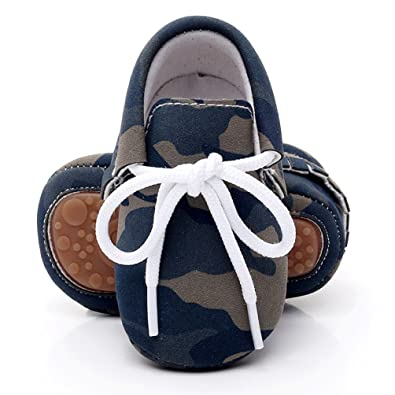 9ddc94f2f69 Rubber Sole Pu Leather Baby Moccasains Anti-Slip Shoes for Boys Girls  Infants and Toddlers