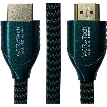 Amazon Com Low Profile Hdmi Cable 6ft Green Hdmi 2 0