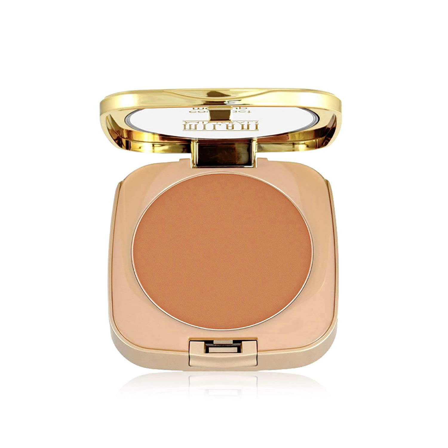 Milani Mineral Compact Makeup - Deep (0.3 Ounce) Vegan, Cruelty-Free Mineral Face Powder with Full Coverage to Conceal Imperfections