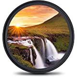 58mm レンズフィルター MC UV フィルター-ウルトラスリム16層多層加工 99% 透過率 薄枠 防水 油汚れ防止 擦り傷防止 紫外線保護 Canon Nikon Sony 富士対応