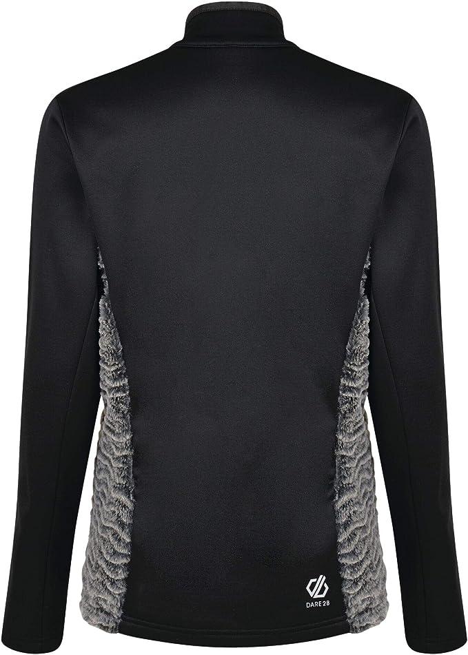 Dare 2b Womens Impearl Faux Fur Knit Full Zip Warm Backed Fleece Sweater Knitwear
