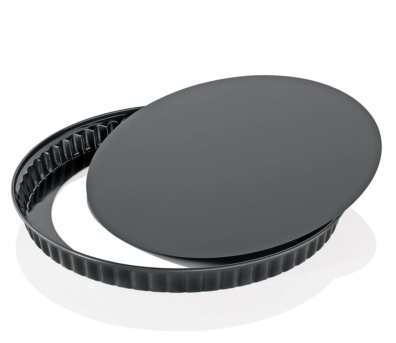 schwarz Quicheform 6-Einheiten K/üchenprofi Bake One 24 cm mit Hebeboden hochwertiges Stahlblech
