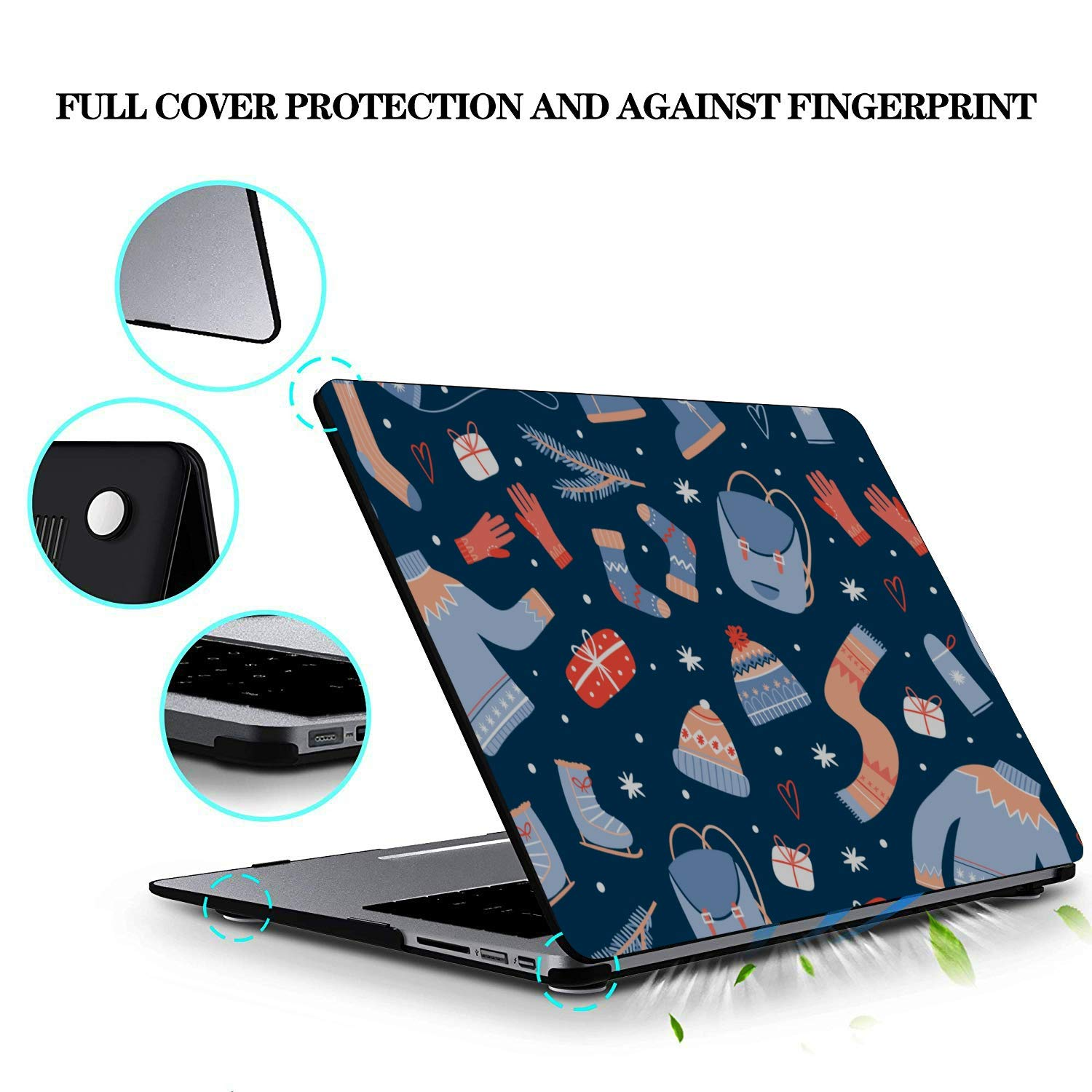 MacBook Pro Protector Winter Warm Cartoon Cute Snow Boots Plastic Hard Shell Compatible Mac Air 11 Pro 13 15 Laptop 13 Inch Case Protection for MacBook 2016-2019 Version