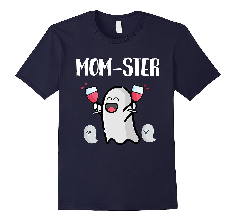 Mom-ster Mom T-Shirt Funny Monster Pun Halloween Tee-FL