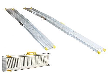 Silla de ruedas plegable rampa de aluminio Alurampe longitud ...