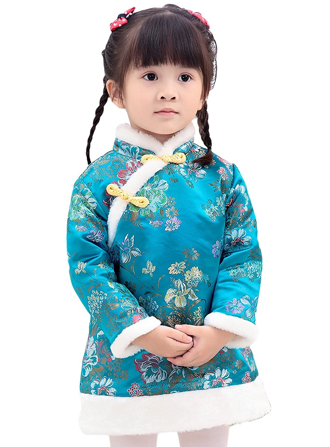 Amazon.com: AvaCostume Girls Traditional Chinese Clothing Tang Suit ...