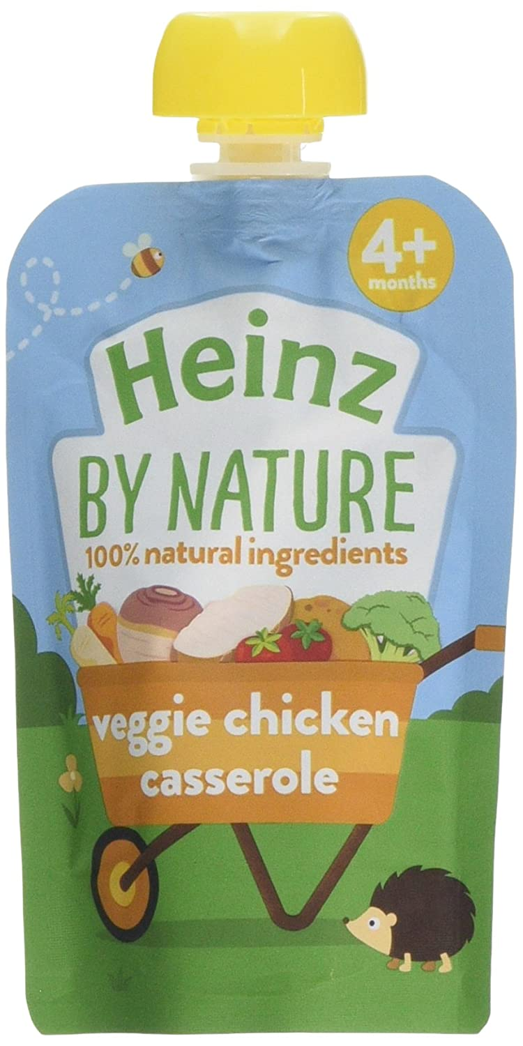 Heinz Vegetable and Chicken Casserole Puree Pouch, 100 g (Pack of 6) The Kraft Heinz Company 76011022