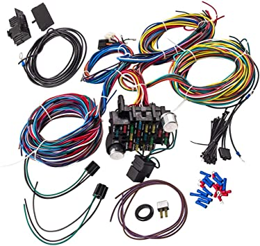 Amazon.com: Wiring Harness Kit 21 Circuit Long Wires Standard Color Wiring  Harness Kit for Chevy Mopar Hotrods Ratrods Ford Chrysler Universal:  AutomotiveAmazon.com