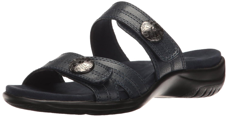 Easy Street Womens Ashby Open Toe Casual Slide Sandals BlackPewter Size 70