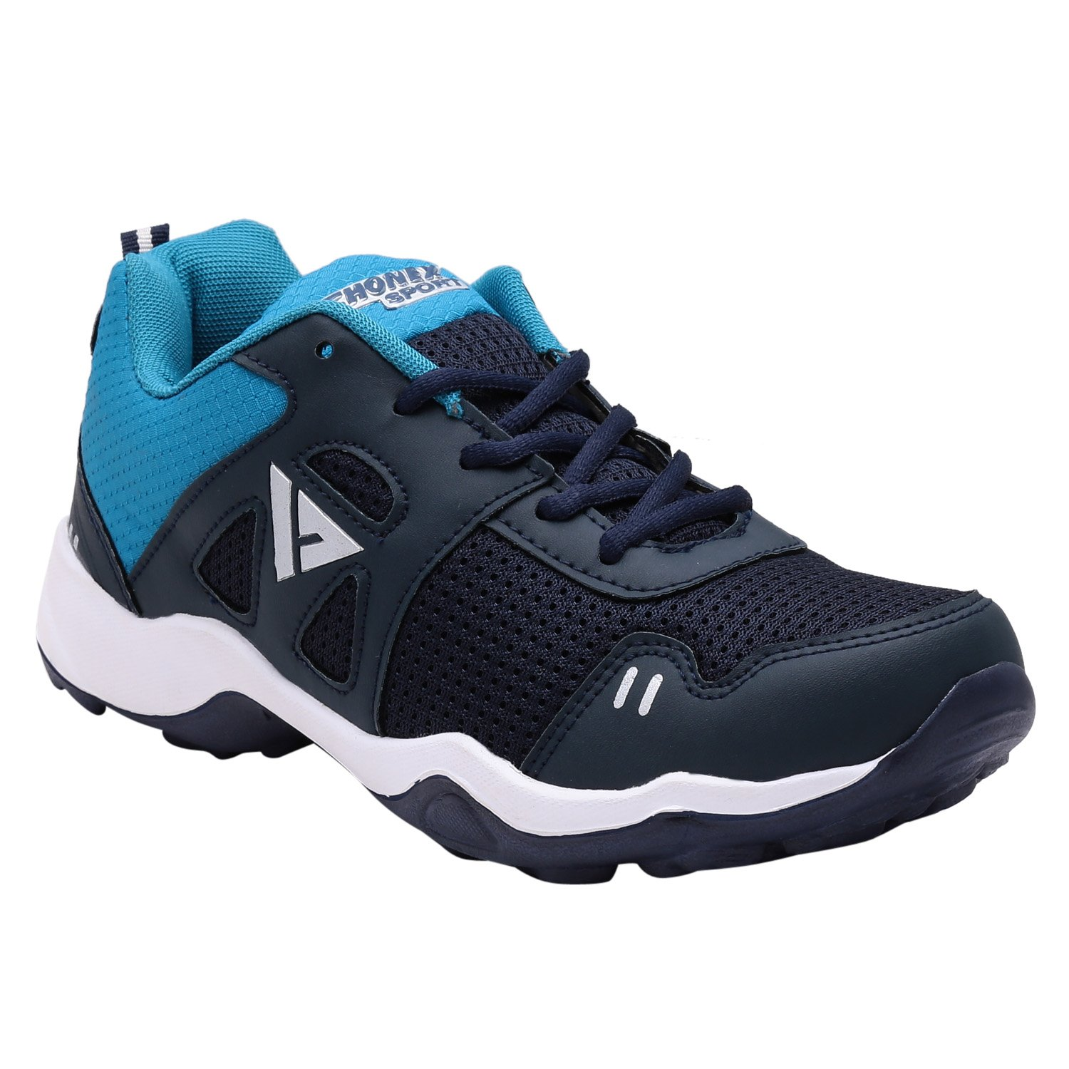 fhonex Sport 7 Navy Blue Lace Up Running Shoes  Amazon.in  Shoes   Handbags 13a06c89e91