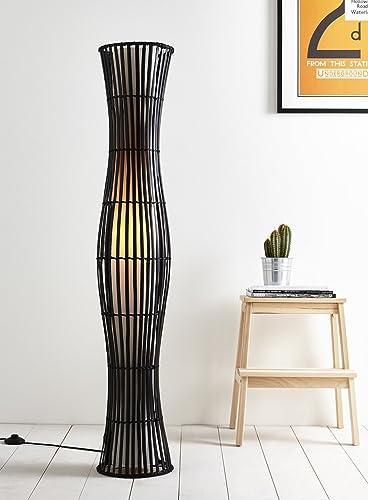 Brown wicker floor lamp amazon lighting brown wicker floor lamp aloadofball Images
