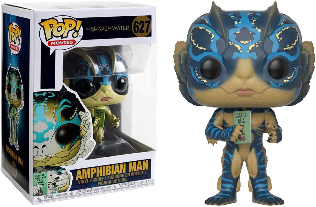 Funko Amphibian Man with Card: x POP! Movies Director Vinyl Figure & 1 POP! Compatible PET Plastic Graphical Protector Bundle [#627 / 32541 - B]
