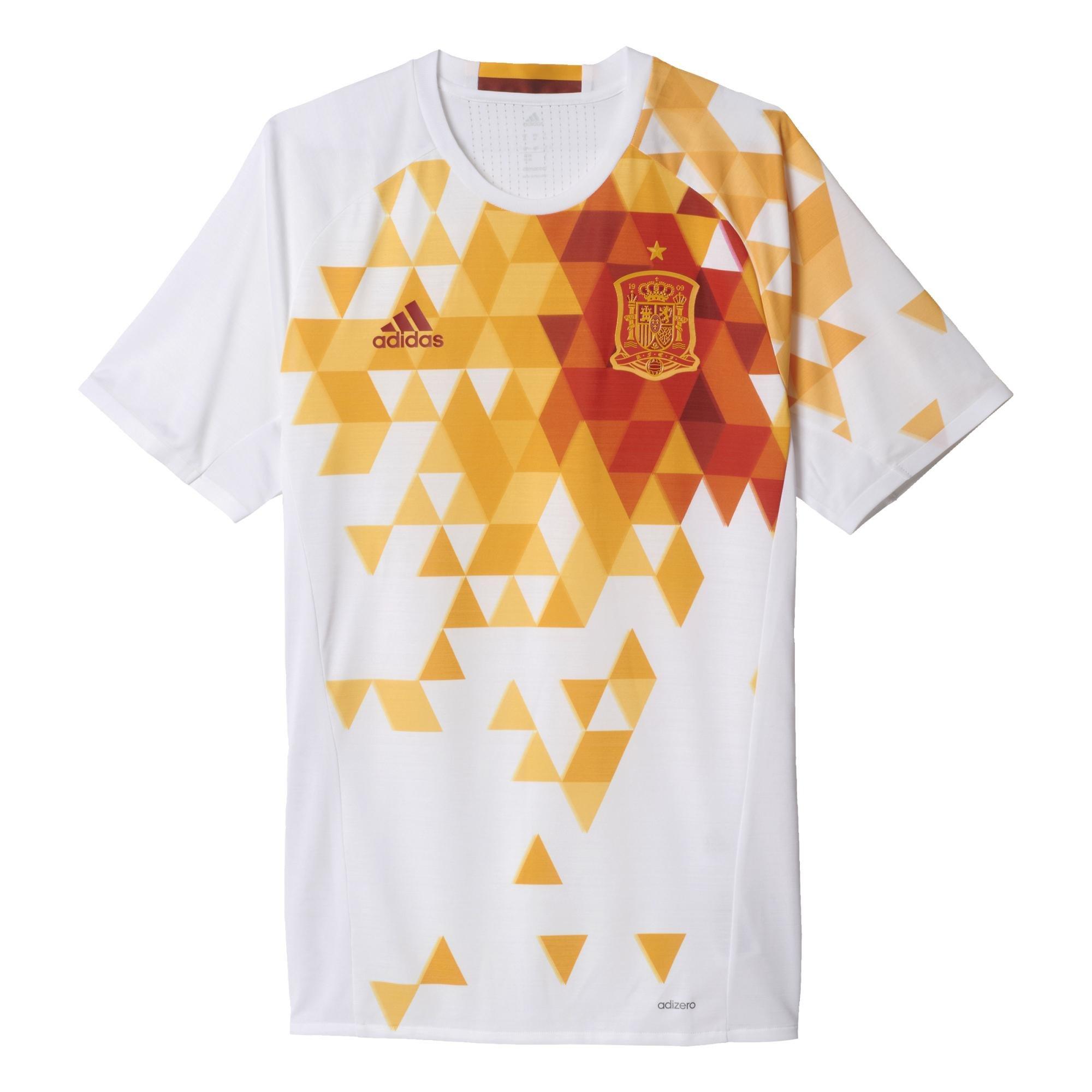 Adidas - Camiseta segunda equipación España UEFA EURO 2016 Authentic, color blanco/ rojo/