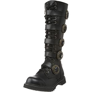 3505426712eb8 Demonia Steam-20 - gothic punk industrial steampunk leather boots shoes 3,5-