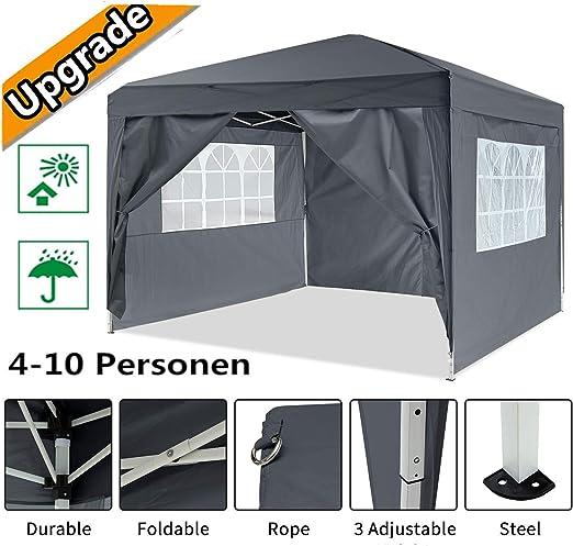 Hiriyt Plegable Carpa con Paredes 3x3/3x6m - Impermeable, con Protección Solar, Ideal para Fiestas en el Jardín ...
