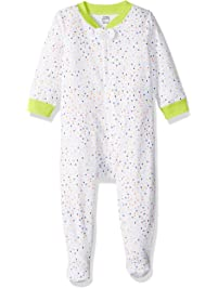 Amazon Essentials Baby Girls Zip-Front Footed Sleep and Play