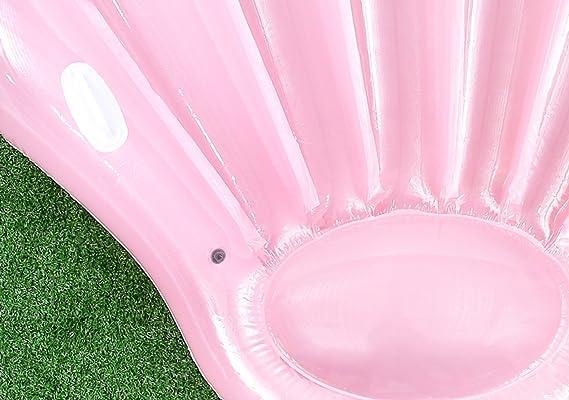 SHASHA Colchonetas Y Juguetes Hinchables Gigante Inflable Ventilador Concha Agua Flotador Balsa Verano Nadar Piscina Tumbona Playa Anillo: Amazon.es: Jardín