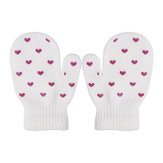 Amazon.com: bebé Kids Dot Star Heart Pattern Glovers 3 – 6Y ...
