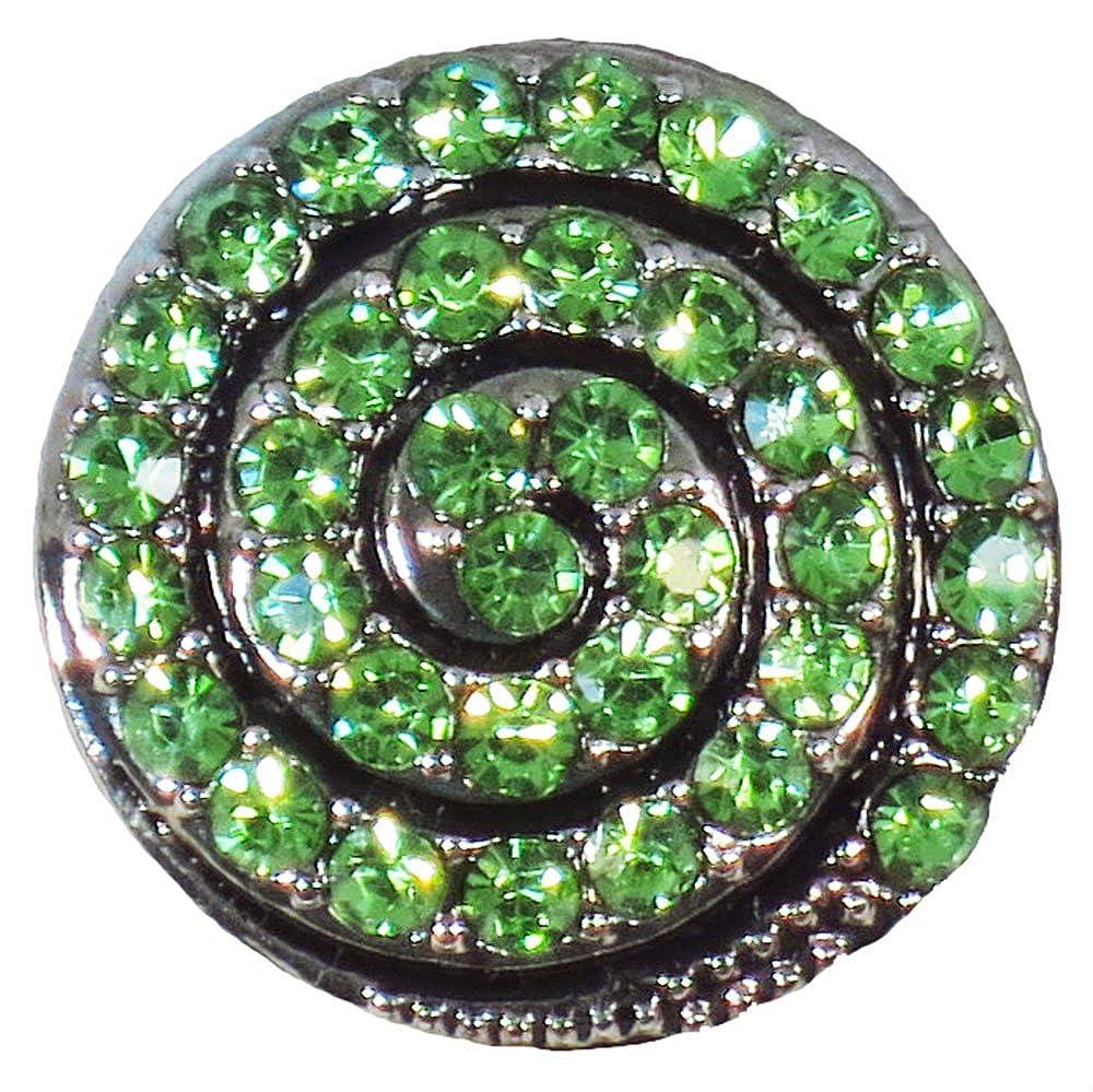 グリーン渦巻きスナップボタン   B06WVBLDX2