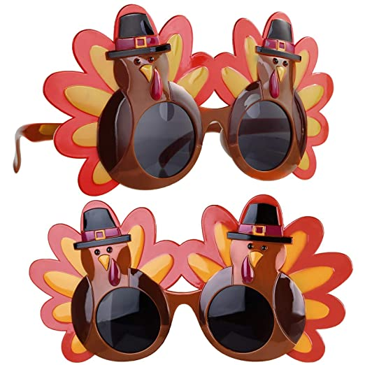 Amazon.com: Gafas de sol de Thanksgiving Turquía, 2 unidades ...