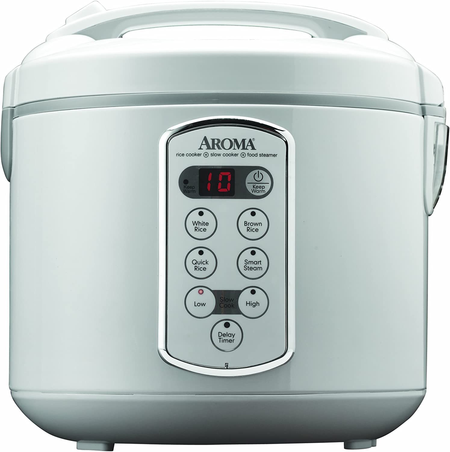 Aroma Housewares Professional 20-Cup Cooked 10-Cup UNCOOKED Digital Rice Cooker and Food Steamer, Stainless Steel Exterior ARC-2000A