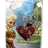 Reine des Neiges [M1041] - Collier créateur 'Frozen - Reine des Neiges' coeur rose