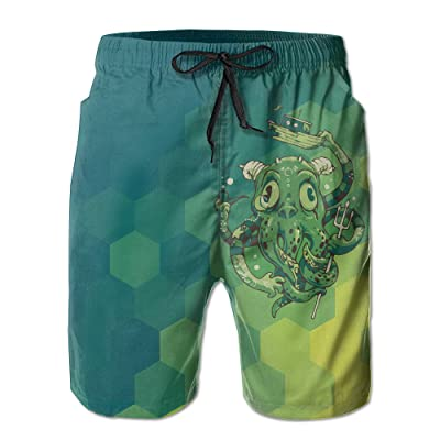 bad2e03af2f5 Tydo Strange Octopus Classic Summer Swim Trunks Surfing Running Swimming  Watershorts Beach Shorts With Pockets For
