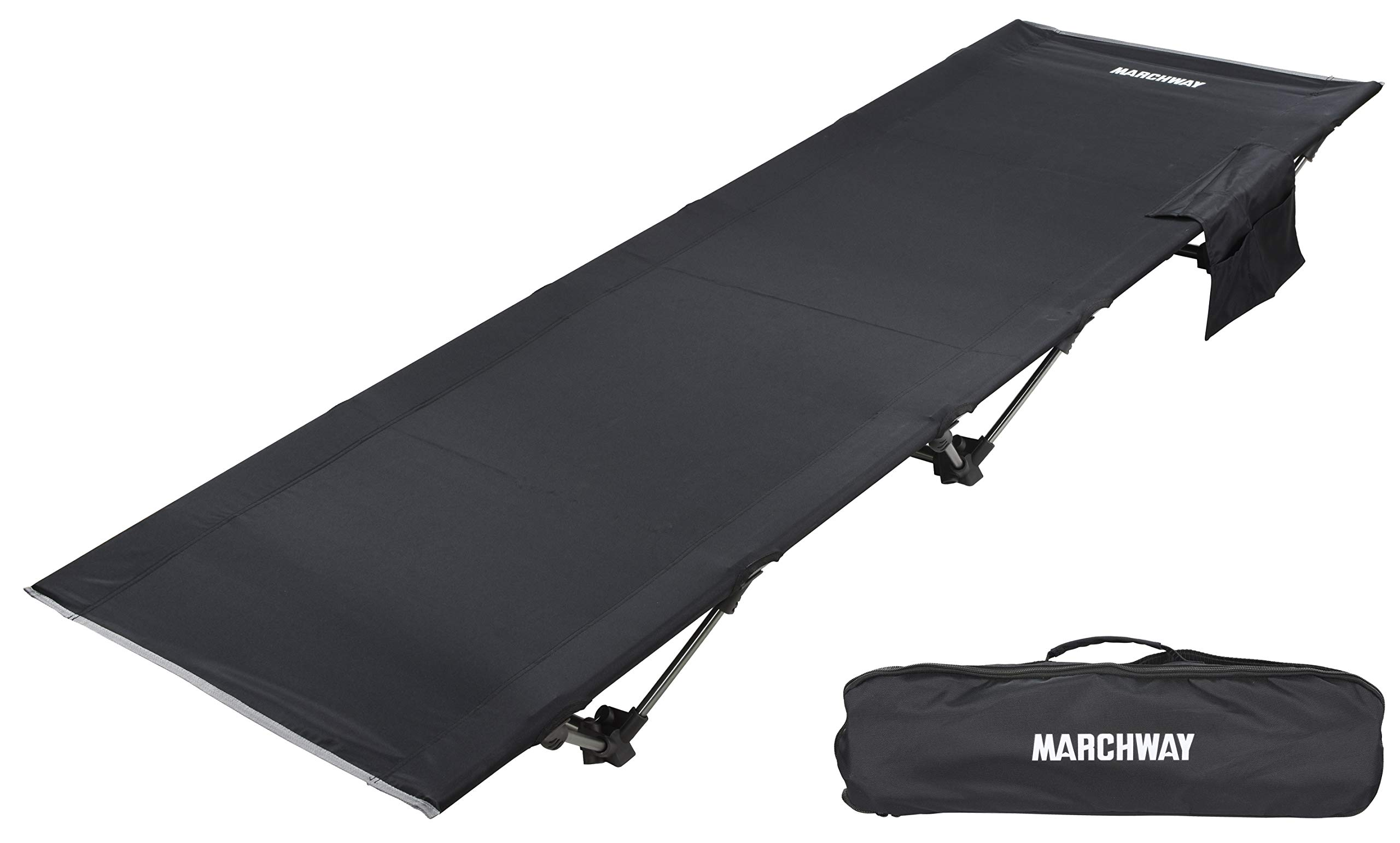 MARCHWAY Lightweight Folding Tent Camping Cot Bed, Portable Compact for Outdoor Travel, Base Camp, Hiking, Mountaineering, Backpacking by MARCHWAY