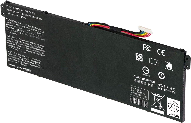 AC14B8K Battery for Acer CB3-111 V3-371 E3-111 E3-112 ES1-111 ES1-131 ES1-311 ES1-331 ES1-511 ES1-512 ES1-520 ES1-521 ES1-531 ES1-731 E5-771 R3-131T R5-431T R5-471T R7-371T R7-372T