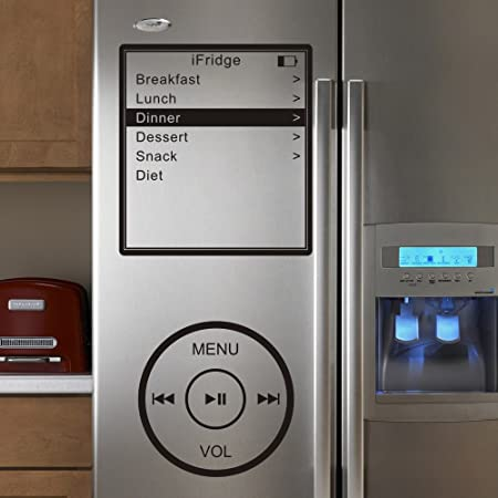 Ifridge ipod inspirado nevera arte cita de pared vinilo adhesivo ...