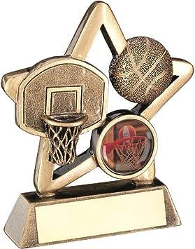 1in Centre BRZ//Or Basket Mini Star Trophy/ / 3,75/en