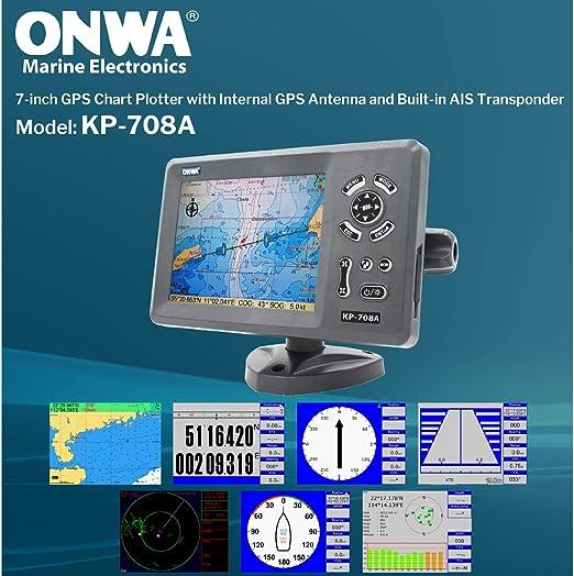 ONWA KP-708A 7-Inch Color LCD Clase B AIS Transpondedor Combo Alta Marine GPS Navigator Marina de Navegación: Amazon.es: Electrónica