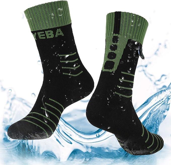 Waterproof Midcalf Socks Coolmax Breathable Odor Resistant Hiking Cycling Grey