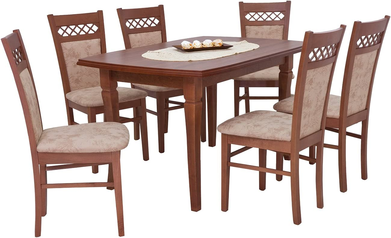 Mb Furniture Dining Table With 6 Chairs Dining Table 130 X 80 Cm Extendable Table Dining Table Dining Table Enigma Amazon De Kuche Haushalt