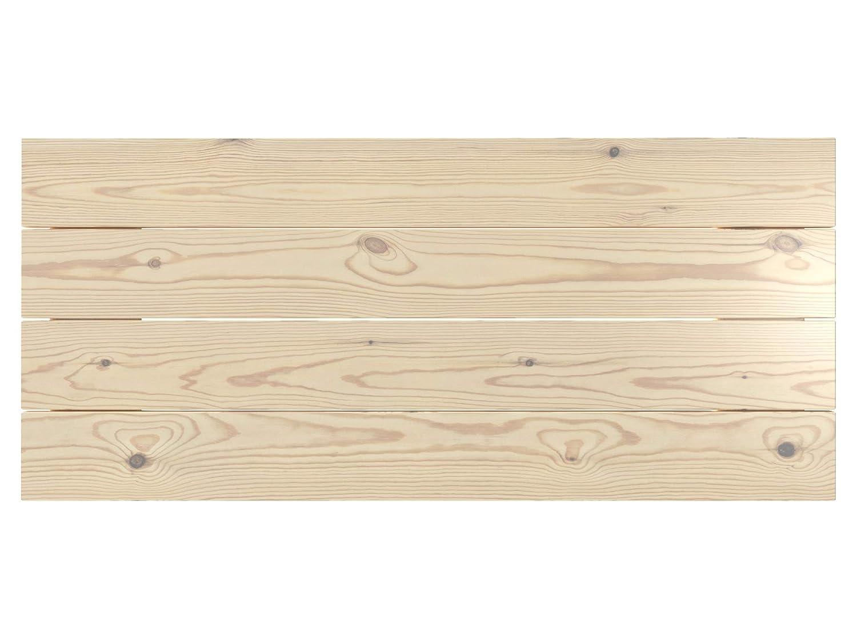 Cabecero de cama de madera Rústico Vintage 100 x 44 cms. Para camas de 80 y 90 cms. Barnizado natural. Incluye herrajes para colgar con regulador de altura.