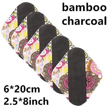 OOFAY Almohadillas Higiénicas Reutilizables De Bambú De Las Toallas/Almohadillas Menstruales del Paño para Las Mujeres 5PCS,G: Amazon.es: Hogar