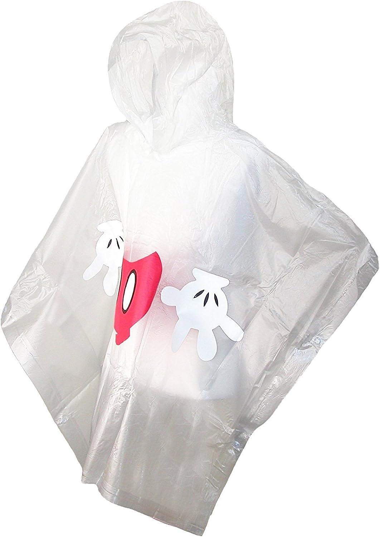 Disney Mens Mickey Mouse Body Clear Rain Poncho