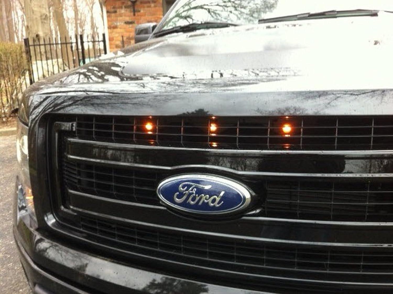 CGE Motorsports Ford F-150 Raptor Stil Grill Gelbe Licht Kit: Amazon ...