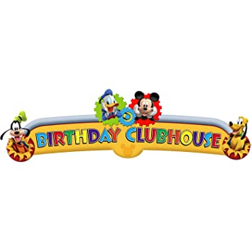Amazon.com: Mickey Mouse 'Playtime' Happy Birthday Banner (1ct ...