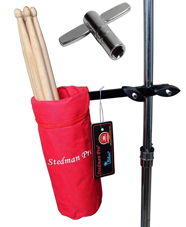 Vizcaya Drum Stick Holder Drum Stick Bag with Drum Key(Black) 10778783
