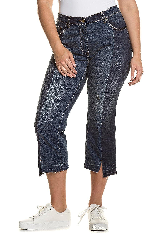 59983cf2d4 Ulla Popken Women's Plus Size Cool Cropped Boyfriend Jeans Denim Blue 16  712427 92-42: Ulla Popken: Amazon.co.uk: Clothing