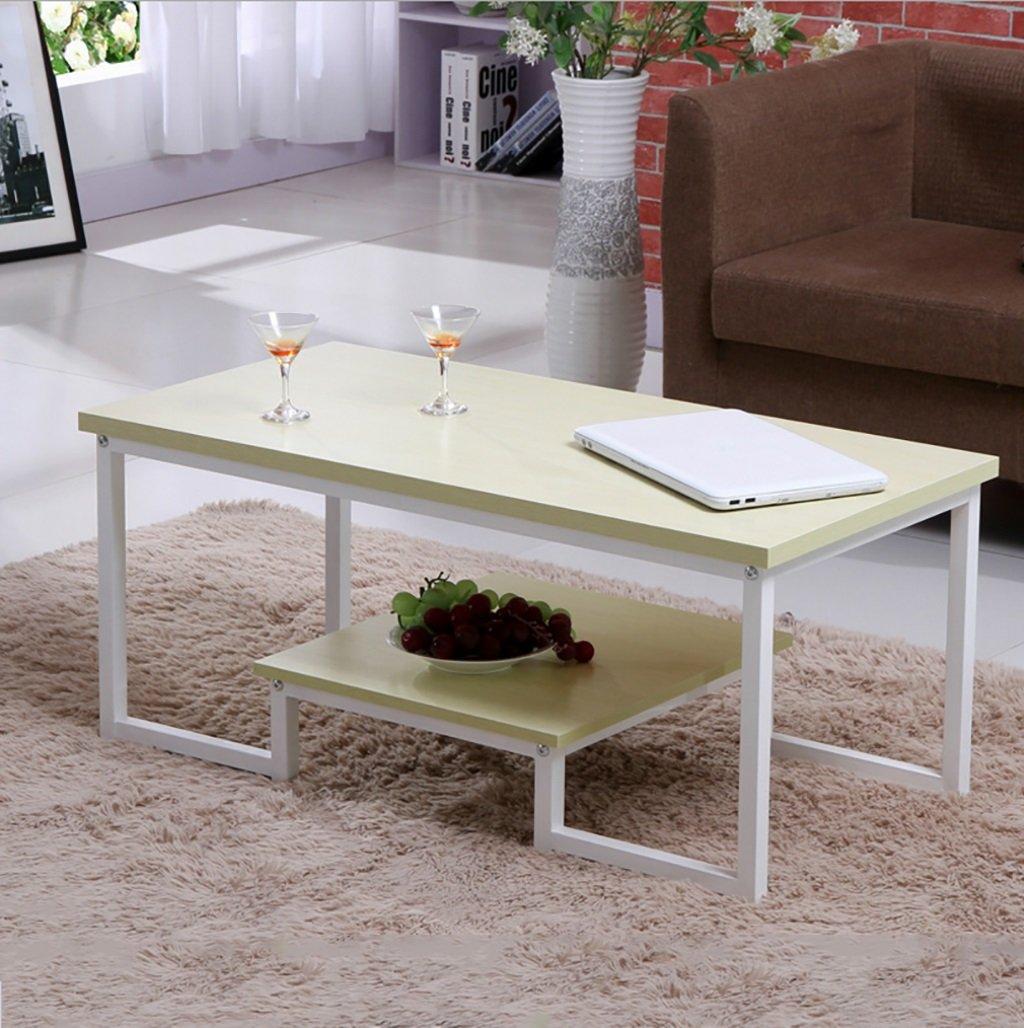 シンプルなダブル錬鉄製コーヒーテーブルクリエイティブリビングルームオフィスコーヒーテーブルティーテーブル (色 : D) B07F87S3XBD