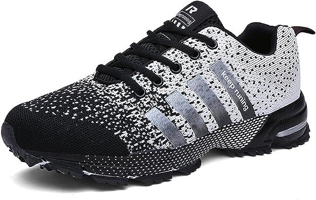 Kuako - Zapatillas de correr para hombre y mujer, deportivas, deportivas, para caminar, gimnasio, correr, atléticas, color Blanco, talla 36.5 EU: Amazon.es: Zapatos y complementos