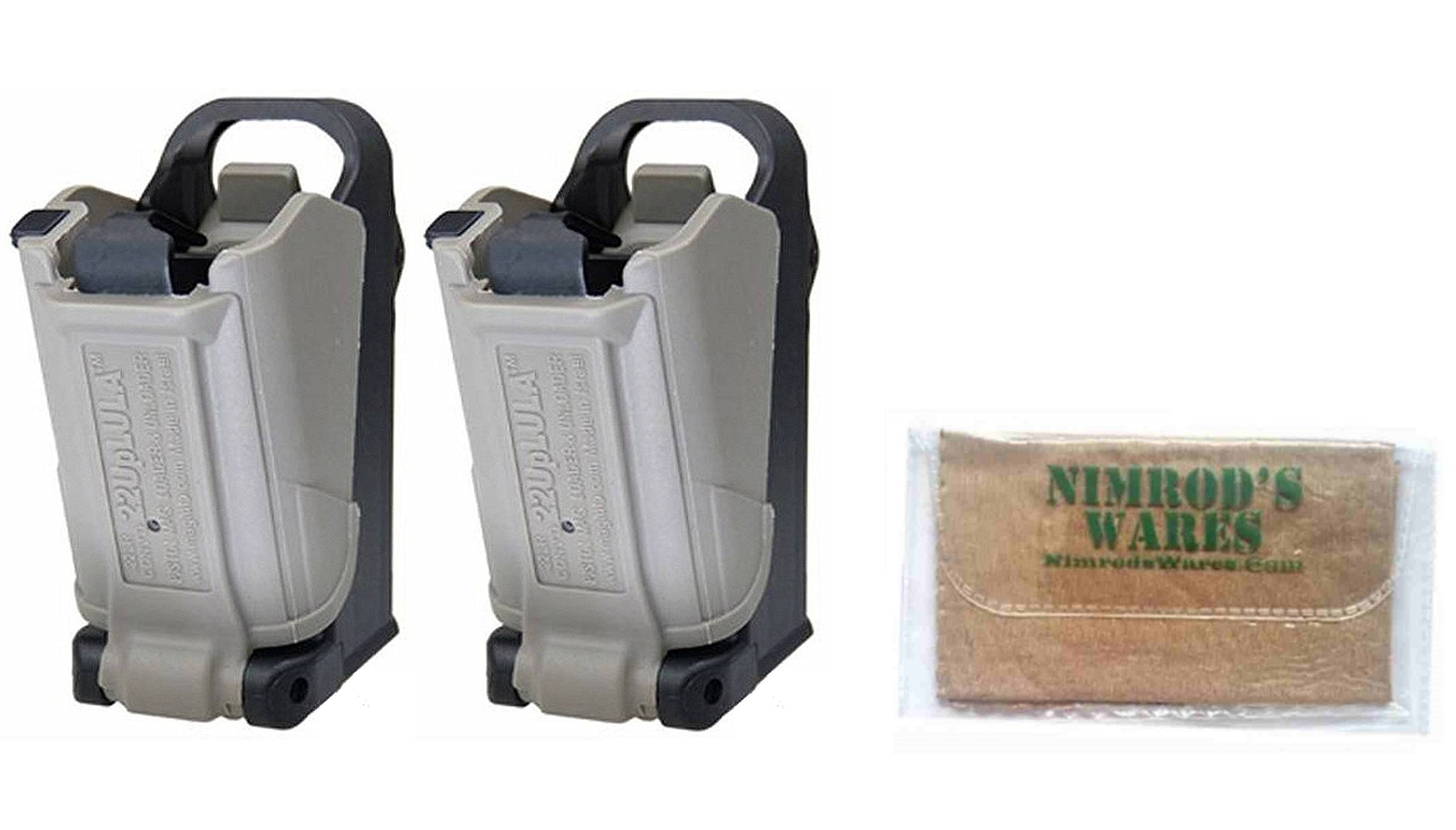 Nimrod's Wares 2-Pack Butler Creek 24224 LULA Loaders 22LR Wide-Body Double-Stack Mags Microfiber Cloth