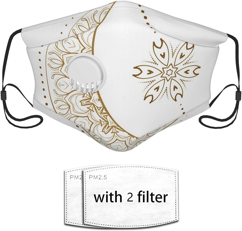 Nicegift Ethnic Style Vector Graphics La reutilización del Filtro de Seguridad de la mascarilla Puede Evitar Que el Polvo contamine la caspa de Las Mascotas